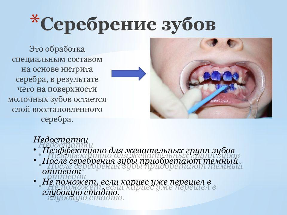 метод серебрения зубов фото